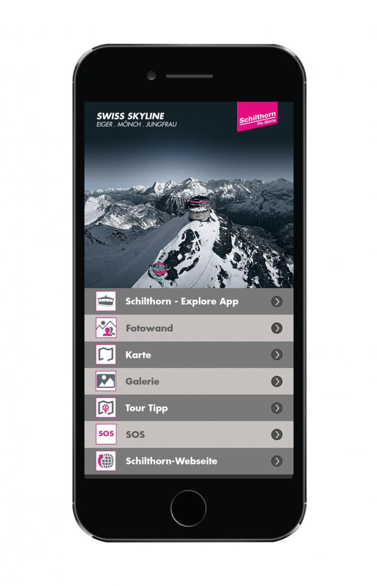 explore app | schilthorn - piz gloria - mürren